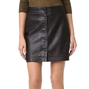 NWT Madewell Leather Button Front Skirt (4)